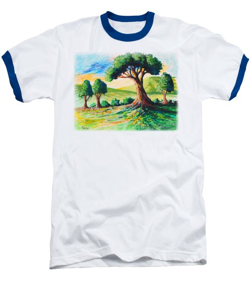 Basking In The Sun Baseball T-Shirt by Anthony Mwangi