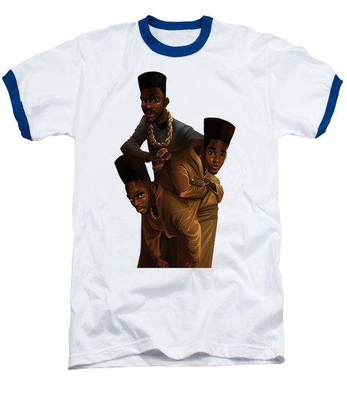 Bdk White Bg Baseball T-Shirt by Nelson Dedos Garcia