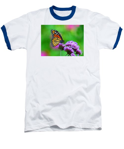 Baseball T-Shirt featuring the photograph Beautiful Monarch by Rodney Campbell