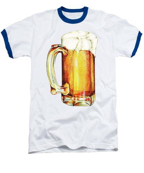 Beer Pattern Baseball T-Shirt by Kelly Gilleran