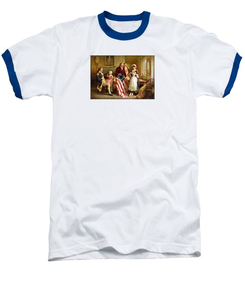 Betsy Ross And General George Washington Baseball T-Shirt by War Is Hell Store