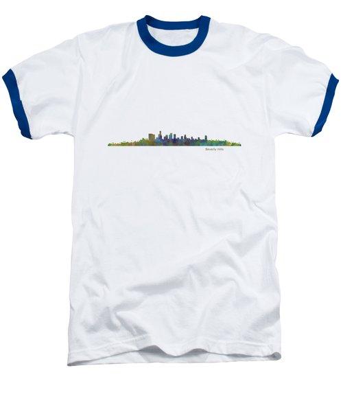 Beverly Hills City In La City Skyline Hq V1 Baseball T-Shirt by HQ Photo