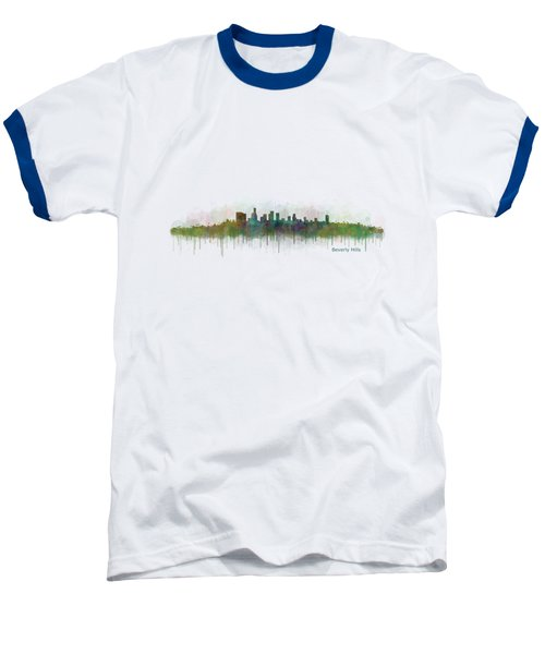 Beverly Hills City In La City Skyline Hq V3 Baseball T-Shirt by HQ Photo