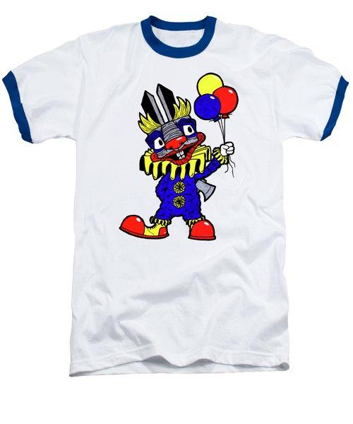 Binky The Bunny Clown Baseball T-Shirt by Bizarre Bunny