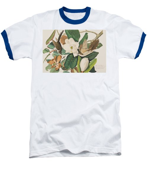 Black Billed Cuckoo Baseball T-Shirt by John James Audubon