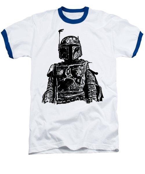 Boba Fett From The Star Wars Universe Baseball T-Shirt by Edward Fielding