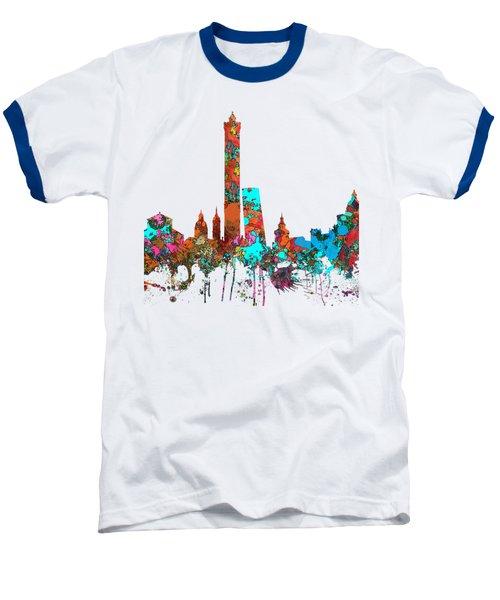 Bologna Italy  Skyline  Baseball T-Shirt by Marlene Watson
