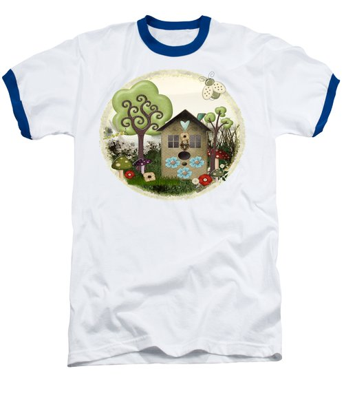 Bonnie Memories Whimsical Mixed Media Baseball T-Shirt by Sharon and Renee Lozen