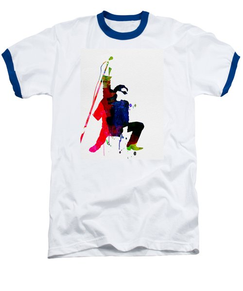 Bono Watercolor Baseball T-Shirt by Naxart Studio