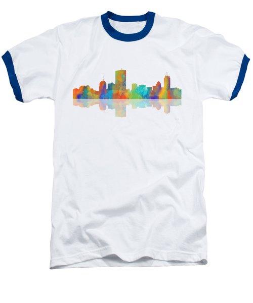 Boston Ma. Skyline Baseball T-Shirt by Marlene Watson