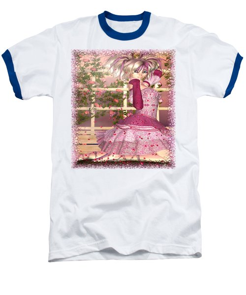 Breath Of Rose Fantasy Elf Baseball T-Shirt by Sharon and Renee Lozen