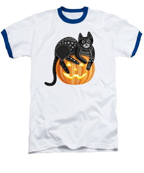 Cattober Baseball T-Shirt by Veronica Kusjen
