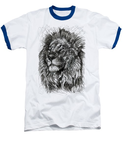 Cecil The Lion Baseball T-Shirt by Michael  Volpicelli