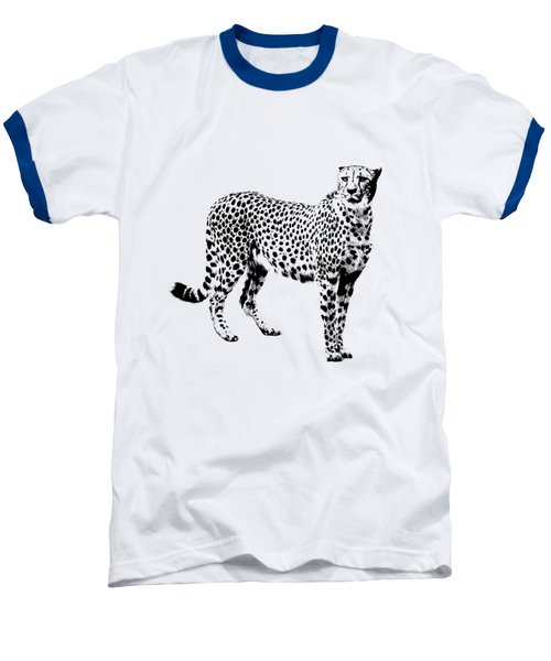 Cheetah Cutout Baseball T-Shirt by Greg Noblin
