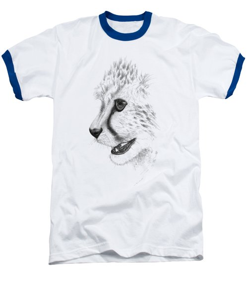 Cheetah Baseball T-Shirt by John Barnard