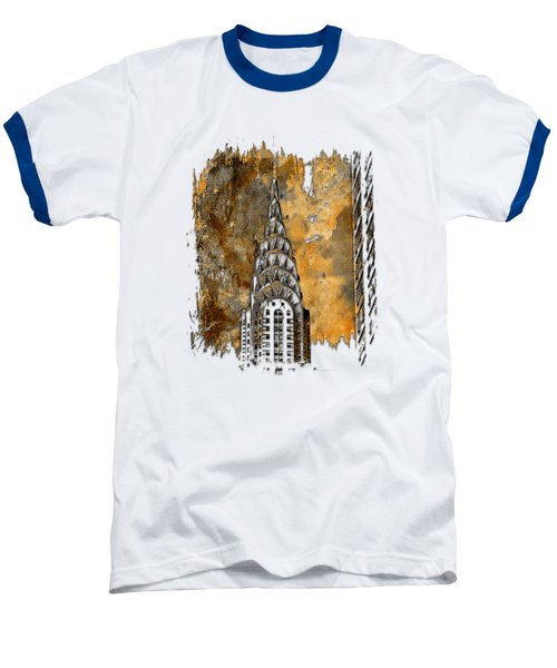 Chrysler Spire Earthy 3 Dimensional Baseball T-Shirt by Di Designs