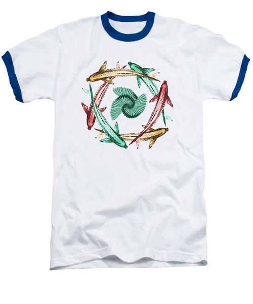 Circle Baseball T-Shirt by Deborah Smith