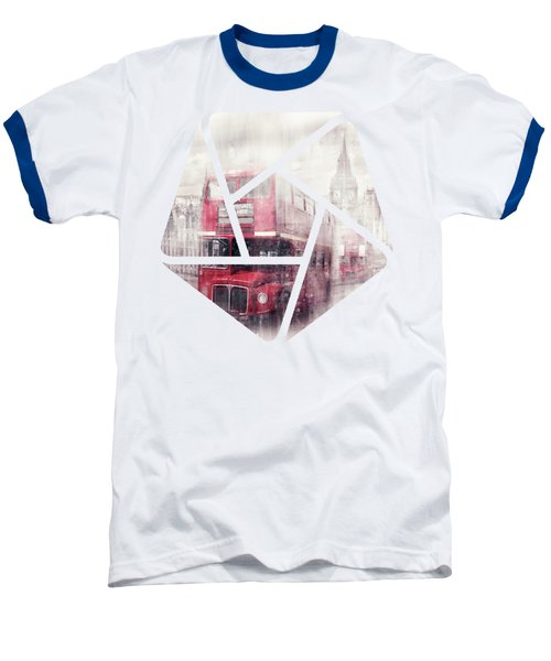 City-art London Westminster Collage II Baseball T-Shirt by Melanie Viola