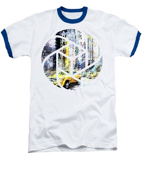 City-art Times Square Streetscene Baseball T-Shirt by Melanie Viola