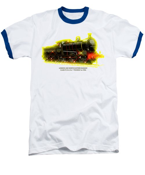 Classic British Steam Locomotive Baseball T-Shirt by Aapshop