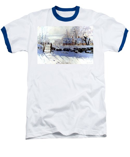 Claude Monet: The Magpie Baseball T-Shirt by Granger