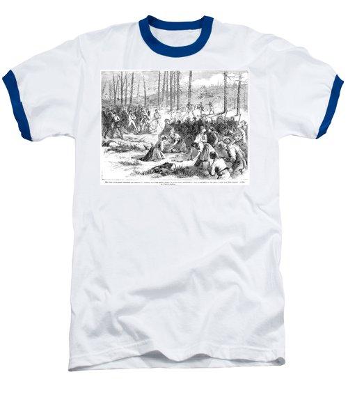 Coal Miner Strike, 1871 Baseball T-Shirt by Granger