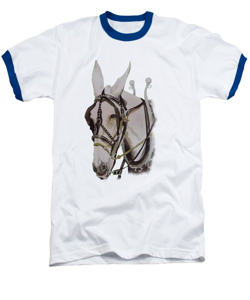 Connie The Mule Baseball T-Shirt by Gary Thomas