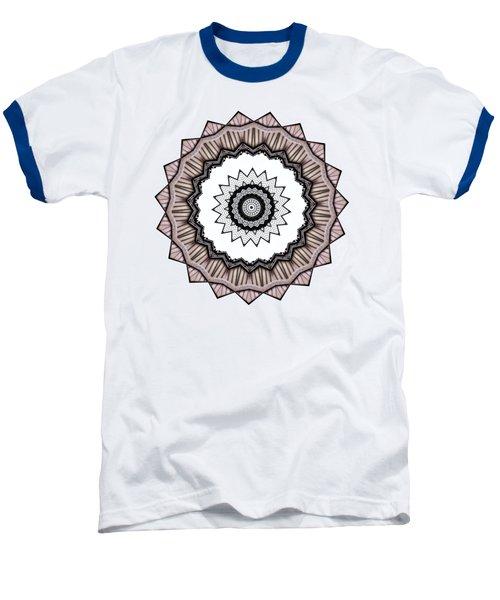 Construction Mandala By Kaye Menner Baseball T-Shirt by Kaye Menner