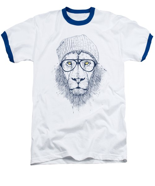 Cool Lion Baseball T-Shirt by Balazs Solti