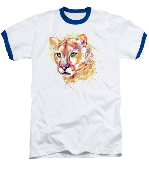 Cougar Head Baseball T-Shirt by Marian Voicu