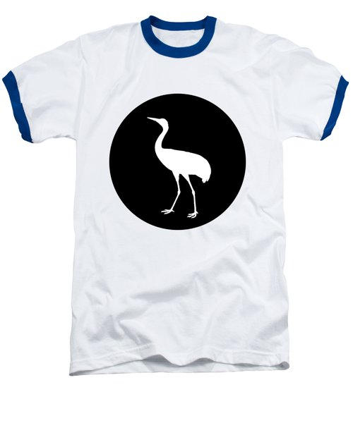 Crane Baseball T-Shirt by Mordax Furittus