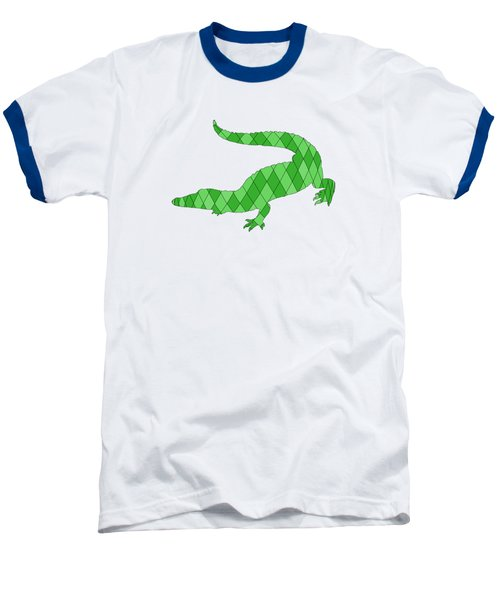 Crocodile Baseball T-Shirt by Mordax Furittus