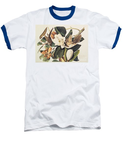 Cuckoo On Magnolia Grandiflora Baseball T-Shirt by John James Audubon