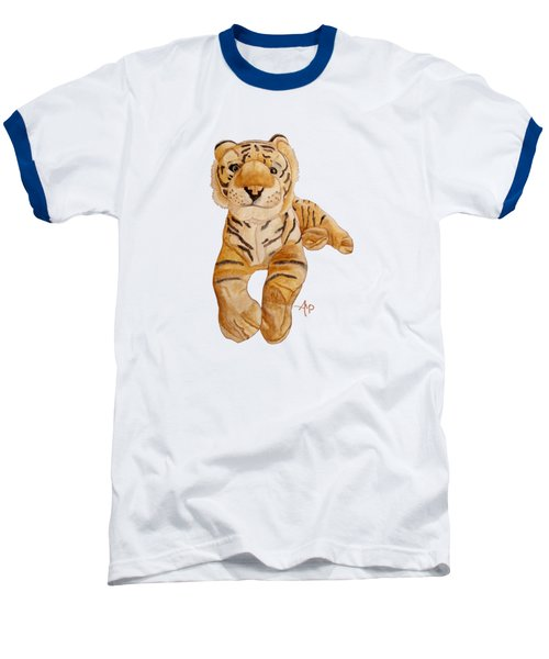Cuddly Tiger Baseball T-Shirt by Angeles M Pomata