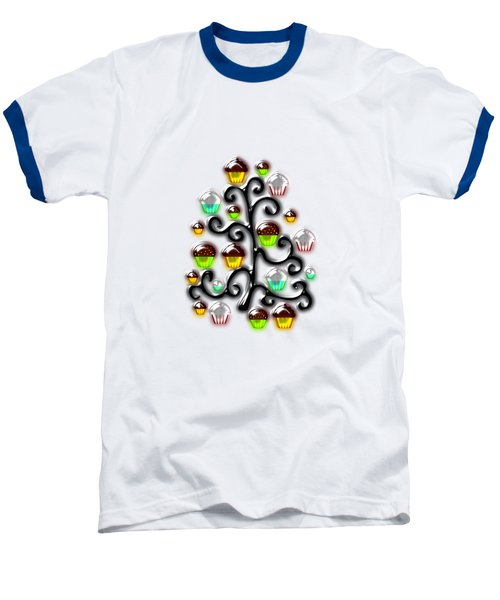 Cupcake Glass Tree Baseball T-Shirt by Anastasiya Malakhova