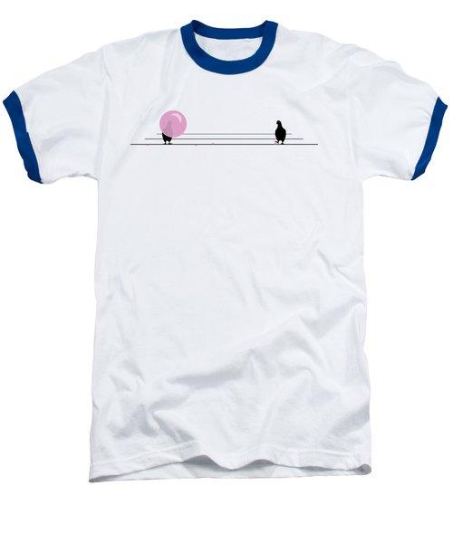 Dagum Bird Baseball T-Shirt by Jennifer Germani