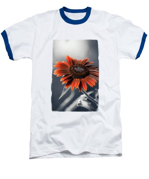 Dark Sunflower Baseball T-Shirt by Konstantin Sevostyanov