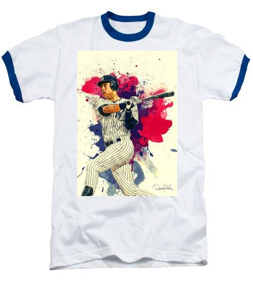Derek Jeter Baseball T-Shirt by Taylan Apukovska