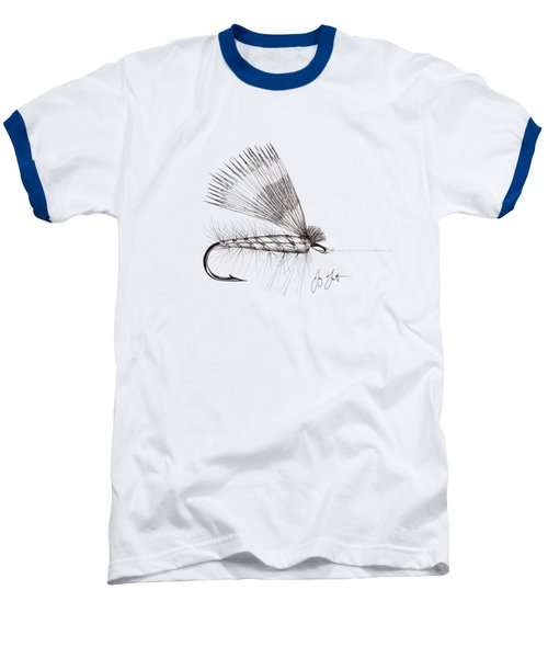 Dry Fly Baseball T-Shirt by Jay Talbot