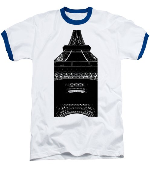Eiffel Tower Paris Graphic Phone Case Baseball T-Shirt by Edward Fielding