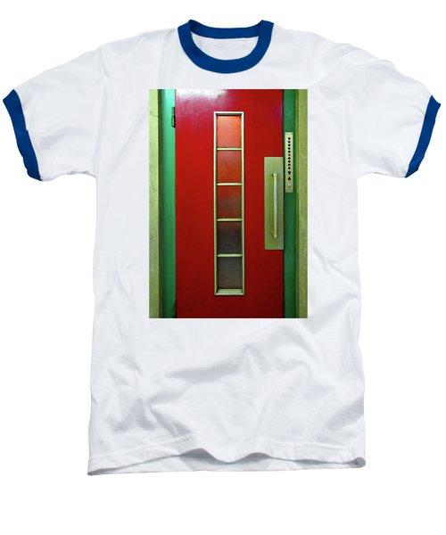 Elevator Door  Baseball T-Shirt by Ethna Gillespie