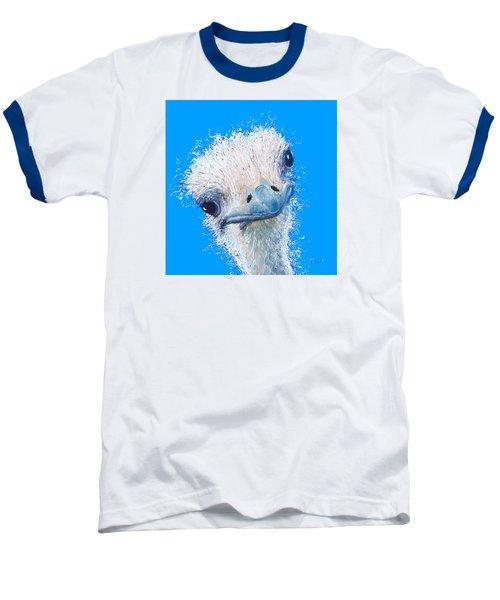 Emu Painting Baseball T-Shirt by Jan Matson