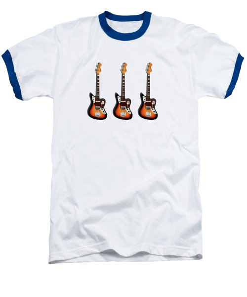 Fender Jaguar 67 Baseball T-Shirt by Mark Rogan