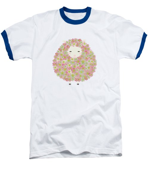Flowery Sheep Baseball T-Shirt by Brigitte Carre