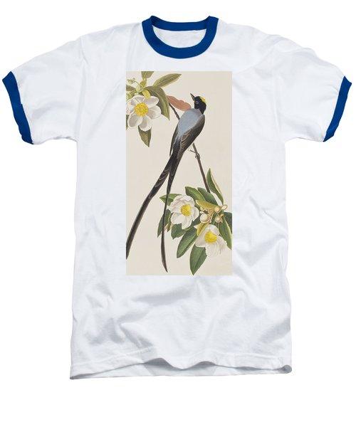 Fork-tailed Flycatcher  Baseball T-Shirt by John James Audubon