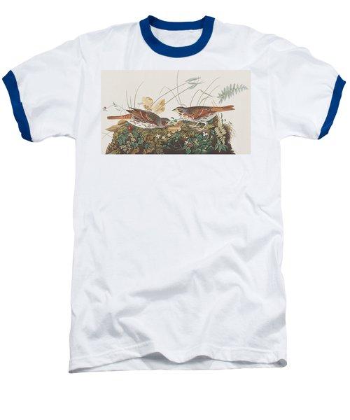 Fox Sparrow Baseball T-Shirt by John James Audubon