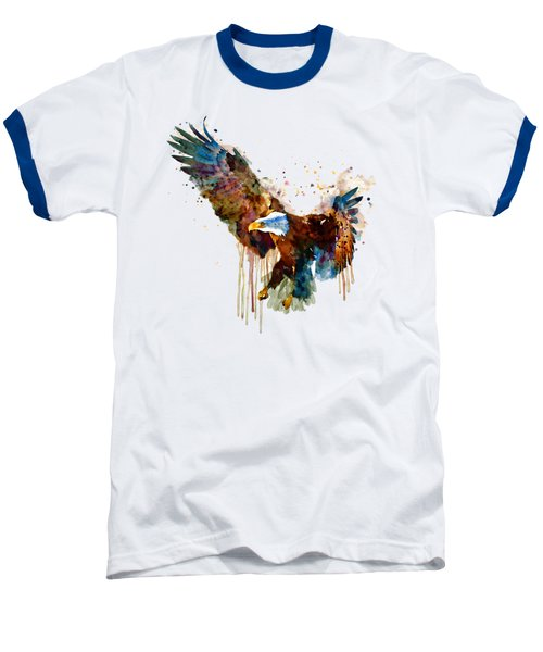 Free And Deadly Eagle Baseball T-Shirt by Marian Voicu