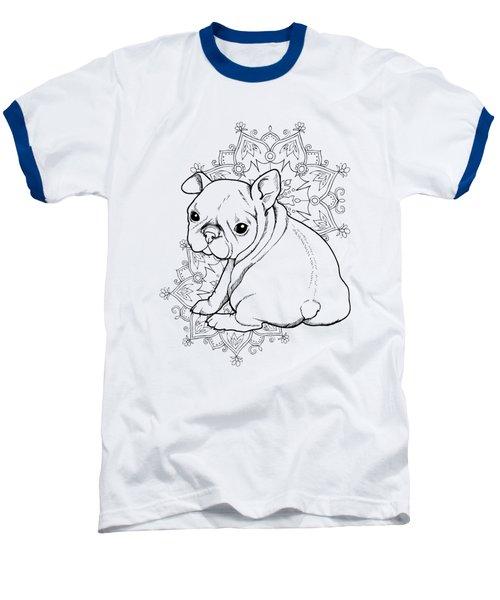 French Bulldog Puppy Baseball T-Shirt by Cindy Elsharouni