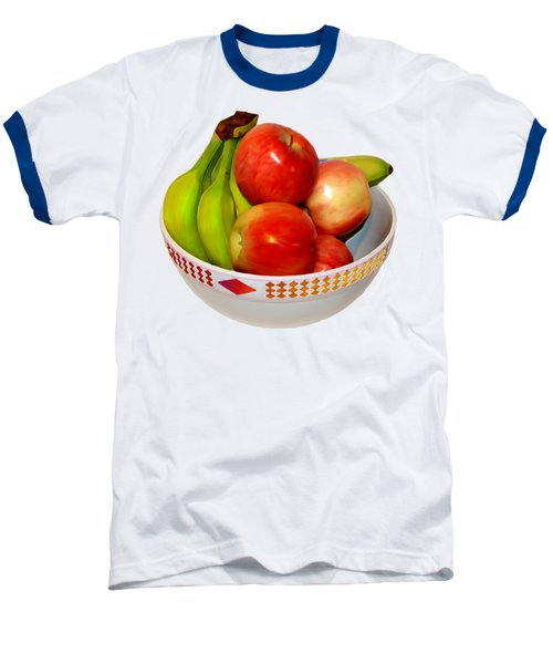 Fruit Bowl Still Life Baseball T-Shirt by William Galloway