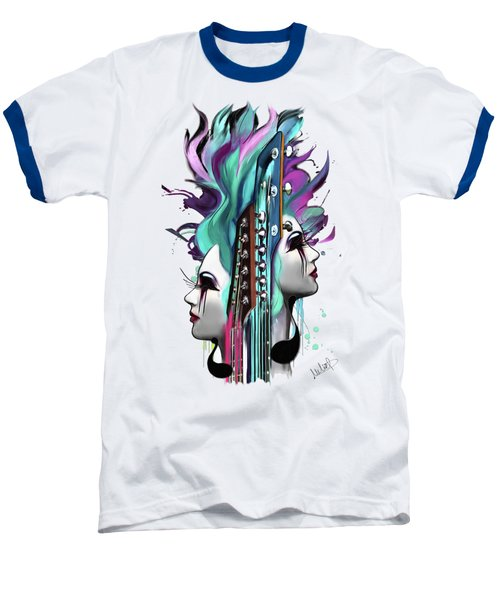 Gemini Baseball T-Shirt by Melanie D